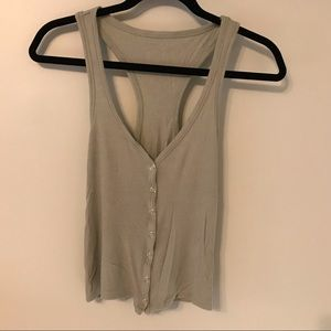 Forever 21 snap front Tank